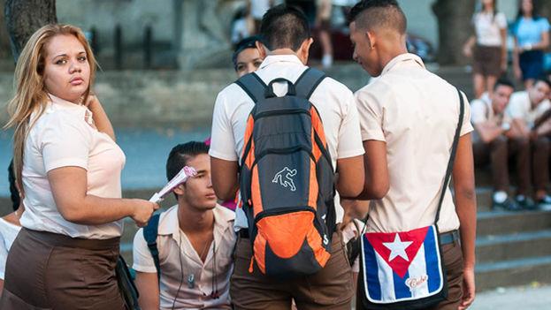 Estudiantes de la enseñanza técnica profesional en Cuba. (Twitter)