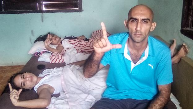 Expresos políticos, integrantes del Comando Olegario Charlot Spileta de Holguín, se unieron a la huelga de hambre en apoyo a los activistas de Unpacu. (Facebook)