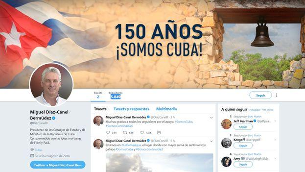 Aunque la red social más usada por los cubanos es Facebook, la elección de Twitter está en línea con la política del Gobierno de La Habana, que ha primado para su comunicación institucional esta plataforma. (Captura)
