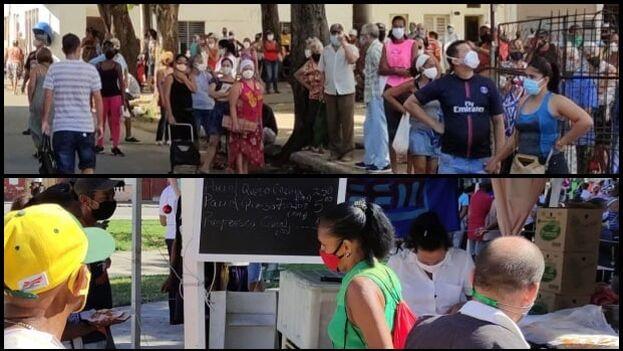 La Feria de la FEU vino a complementar la desafortunada caravana oficial que recorrió el Malecón esta mañana. (14ymedio/Collage)