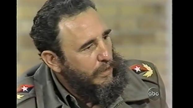 Fidel Castro durante una entrevista con la periodista Barbara Walters para 'ABC' en 1977