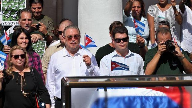 Fidel Castro Díaz-Balart en una imagen de archivo durante los funerales de su padre, Fidel Castro. (EFE)