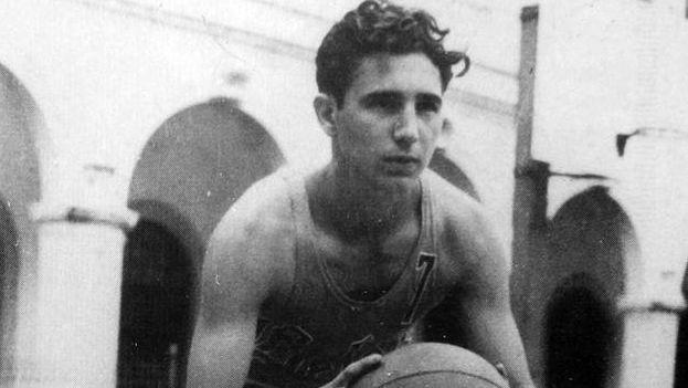 Fidel Castro en su adolescencia.