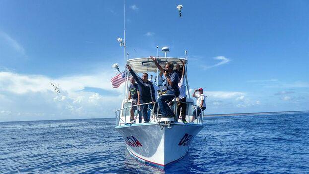 Foto de archivo de una flotilla del exilio cubano de Miami. (EFE/Gastón de Cárdenas/Archivo)