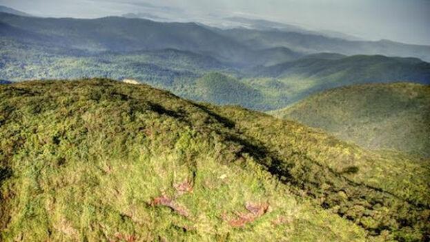 Fotografía aérea de la Sierra del Cristal en el macizo montañoso Nipe-Sagua-Baracoa, en la provincia de Holguín. (Cubadebate)