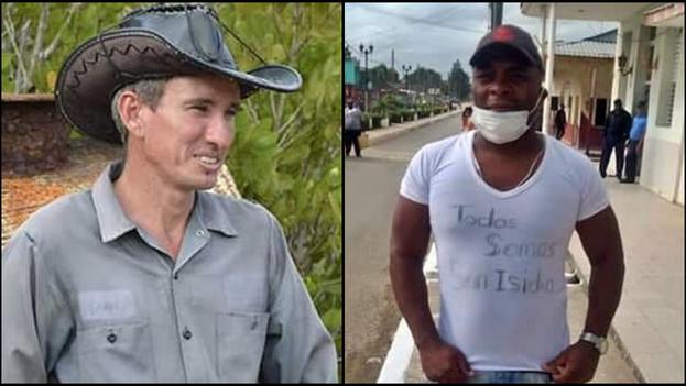 García Labrada (i) y Mantilla (d) son miembros de organizaciones opositoras cubanas. (Collage)