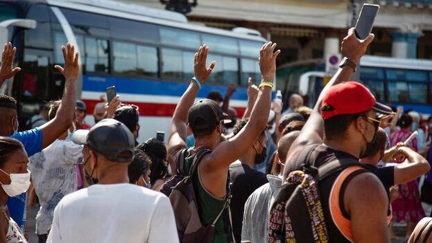 El Gobierno no ha ofrecido datos sobre detenidos y se desconoce cuántos hay. (Marcos Evora)