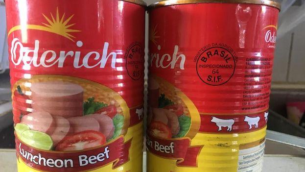 El Gobierno cubano está vendiendo una latas de carne procedentes de Brasil a los hogares en las zonas afectadas por el huracán Irma. (14ymedio)