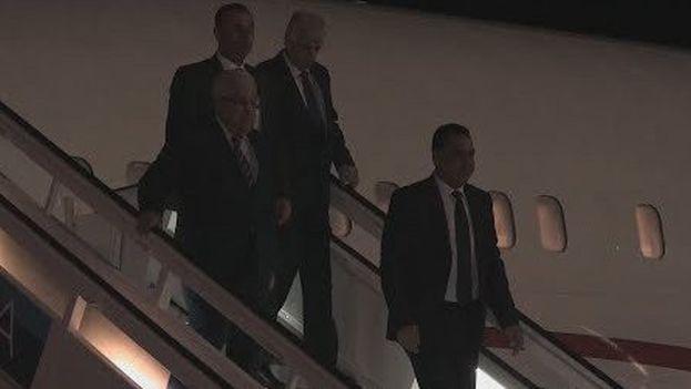 Abás, que aterrizó este jueves en La Habana, se reunirá con Díaz-Canel tras haberlo hecho con Maduro y Piñera en días previos. (Captura)