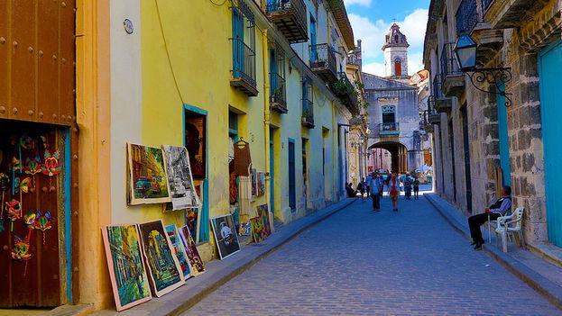 Una calle en La Habana Vieja, una de las zonas más turísticas de Cuba. (Andrzej Wrotek/Flickr)