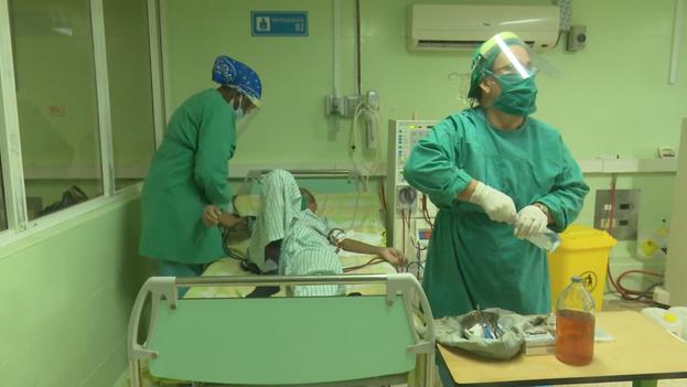 Hace tiempo que los hospitales de Ciego de Ávila ya no dan de sí para atender a los pacientes de una provincia fuertemente castigada por la pandemia. (Captura)