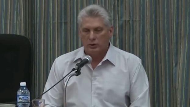 Hace poco más de un año Miguel Díaz-Canel cargó duramente contra la prensa independiente de la Isla. (Captura)