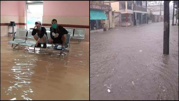 En Holguín, varias viviendas e instalaciones estatales fueron afectadas por las inundaciones. (Collage)