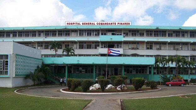 El Hospital General Docente Comandante Pinares, adonde llegó el cuerpo de Yamisel Díaz Hernández la madrugada de este domingo. (Infomed)