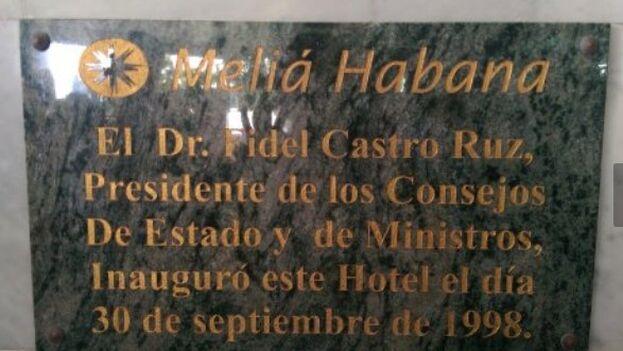 El Hotel Meliá Habana fue inaugurado por Fidel Castro el 30 de septiembre de 1998. (14ymedio)