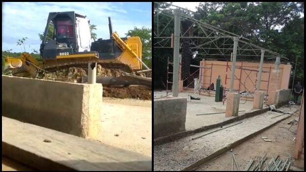 Las autoridades usaron maquinaria pesada para demoler el templo de la Iglesia Pentecostal Asambleas de Dios. (Alain Toledano)