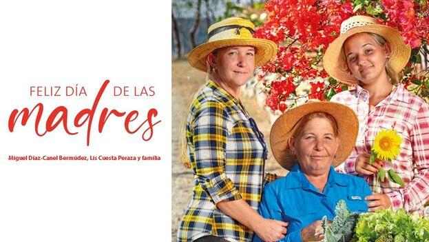 Imagen con la que Díaz-Canel felicitó a las cubanas por el día de las madres. (Twitter)