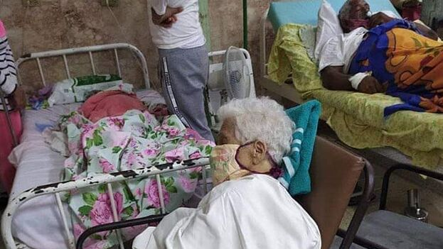 Imagen del hospital de Trinidad compartida en redes sociales para denunciar el colapso del centro. (Facebook)