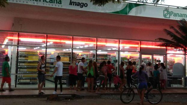 El mercado Imago, reinaugurado recientemente en Cienfuegos apenas tiene cinco productos en su sección cárnicos. (14ymedio)