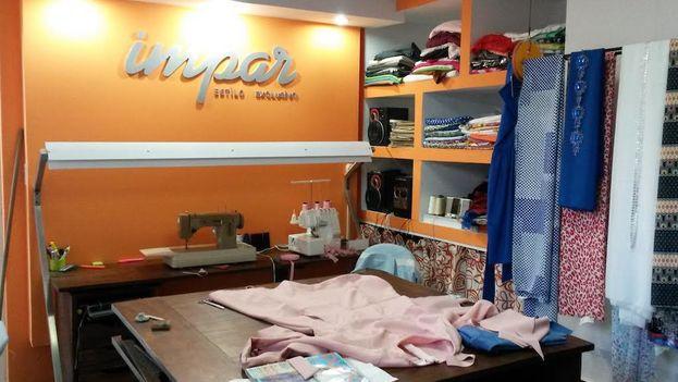 Impar, un atelier en el barrio de Nuevo Vedado gestionado por Yansa Muñiz. (14ymedio)