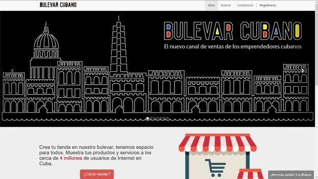 Al no existir en la Isla sistemas como PayPal, Bulevar Cubano permite reservar desde su web los productos y el desembolso se realiza en efectivo en el momento de la entrega a domicilio. (Captura)