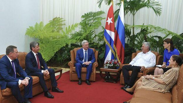 La visita de Iván Mélnikov a Cuba se inició este martes y se ha reunido con los más altos representantes del Estado. (@PresidenciaCuba