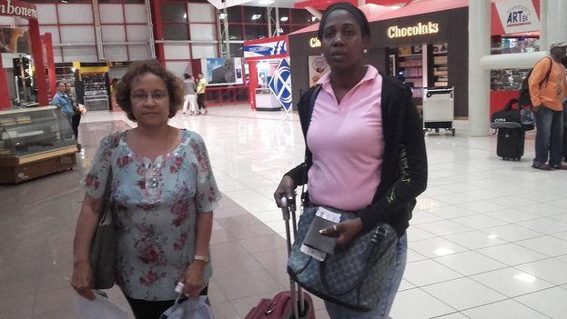 Las activistas Dora Leonor Mesa Crespo y Jacqueline Madrazo Luna estaban invitadas al periodo de sesiones de la Comisión Interamericana de Derechos Humanos en Bogotá, Colombia. (Cortesía)