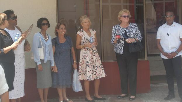 Jill Biden durante su visita a Camagüey. (Ignacio de la Paz/14ymedio)