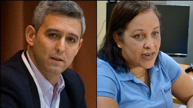 Tanto Jorge Luis Perdomo como Mayra Arevich son considerados de 'línea dura' con respecto al manejo de la internet en Cuba. (Collage)