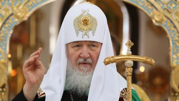 El patriarca ortodoxo ruso Kiril durante la liturgia en la Iglesia Ortodoxa Rusa de La Habana. (EFE)