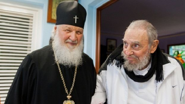 """La prensa oficial cubana catalogó la visita del patriarca Kiril al expresidente Fidel Castro como de """"cortesía"""". (Captura de pantalla)"""