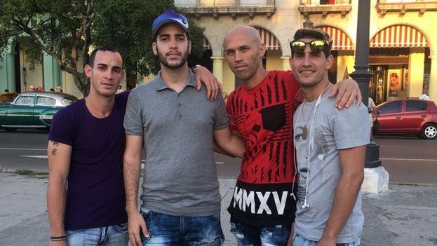 Integrantes de La Union de izquierda a derecha: Osmel (Mr Jacke), Misael (Dj Misa), Ramiro (Pucio) y Randoll (El escogido). (14ymedio)
