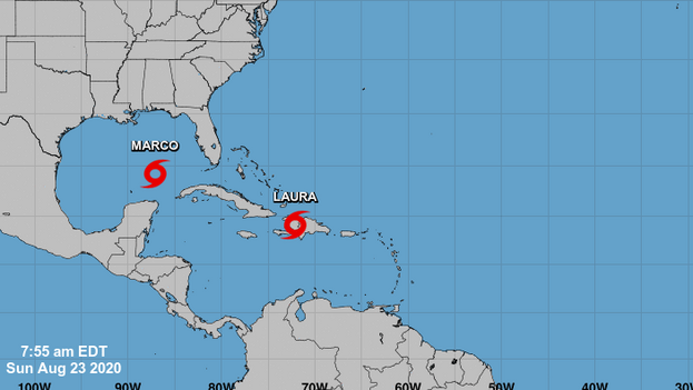 Laura dejó lluvias copiosas en todo el este de Puerto Rico, donde este sábado se registró además un temblor de tierra.. (Noaa)