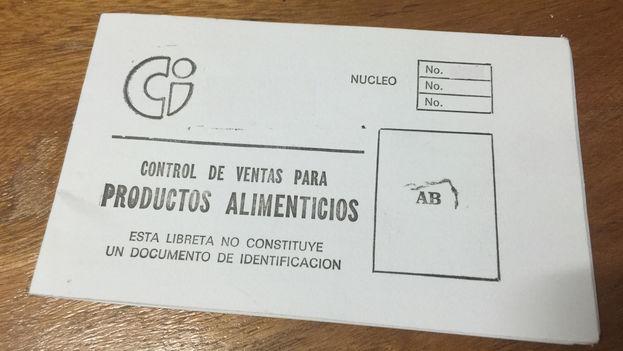 Libreta de racionamiento cubana. (14ymedio)