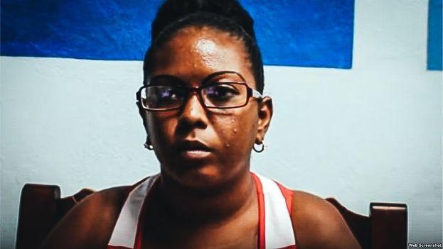 Lisandra Rivera fue condenada a dos años de privación de libertad por el Tribunal Provincial . (Unpacu)