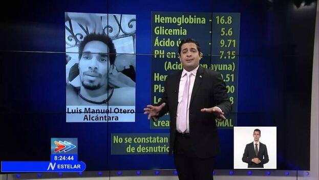 Luego de ser secuestrado y confinado en el hospital Calixto García, la televisión cubana comenzó una campaña de descrédito contra Alcántara. (Captura)