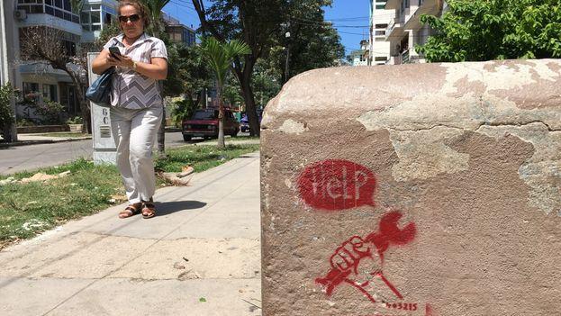 grafiti en La Habana
