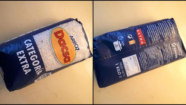 En las tiendas en MLC el arroz que se comercializa es mayoritariamente importado. (Collage)