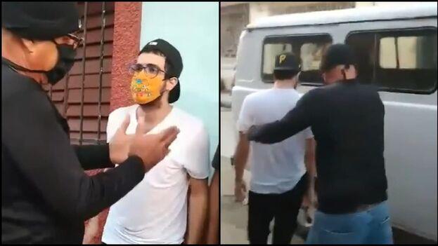 El periodista y escritor Carlos Manuel Álvarez fue detenido por la Seguridad del Estado la tarde de este lunes en la ciudad de Cárdenas. (Captura)