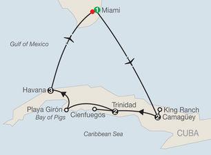 Mapa del recorrido que planea Globus. (www.globusjourneys.com)
