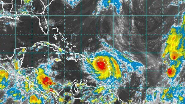 María afectará a la costa norte cubana a partir de este jueves con rachas de viento, lluvia y marejadas. (NOAA)