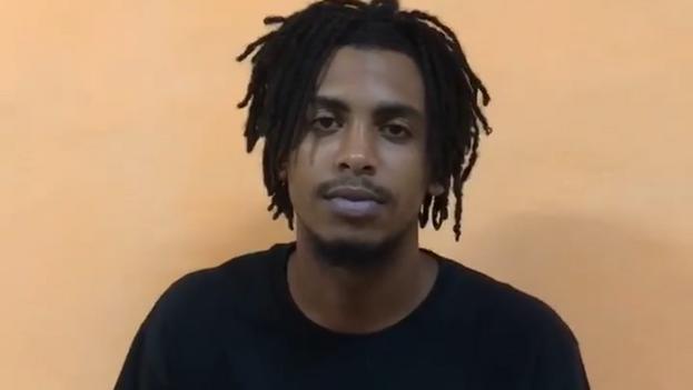Martínez tiene 19 años, residen en Villa Clara y es militante del Frente Juvenil del Foro Antitotalitario Unido. (Captura)