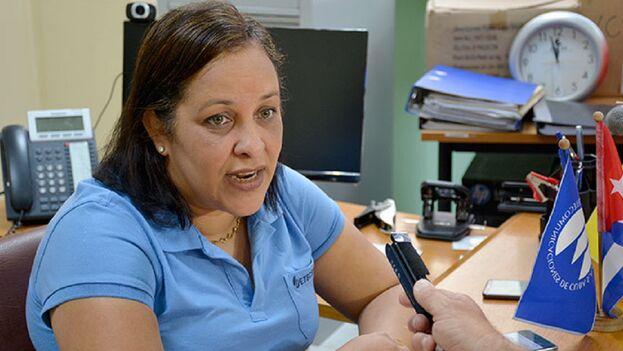 Mayra Arevich Marín, directora del monopolio de telecomunicaciones, Etecsa.
