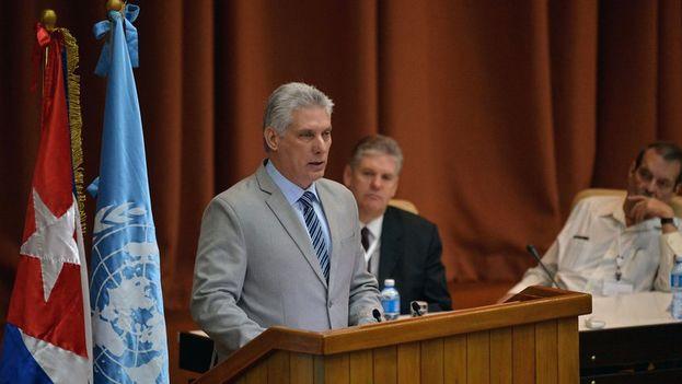 Miguel Díaz-Canel en su discurso ante la Asamblea Nacional. (Cubadebate)