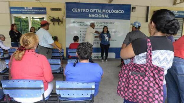 El programa del centro optalmológico Misión Milagro del hospital Santa Gertrudis en San Vicente fue cerrado. Foto/ Mauricio Cáceres