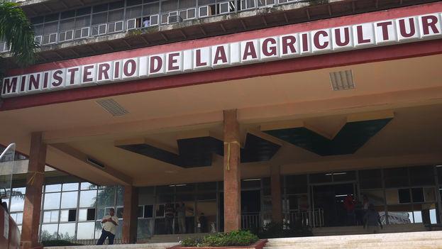 Ministerio de la Agricultura y su chapuza de diseño a la entrada