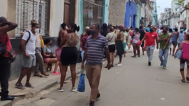 El Ministerio de Salud Pública reportó este lunes 1.850 nuevos casos de covid-19 en La Habana. (14ymedio)