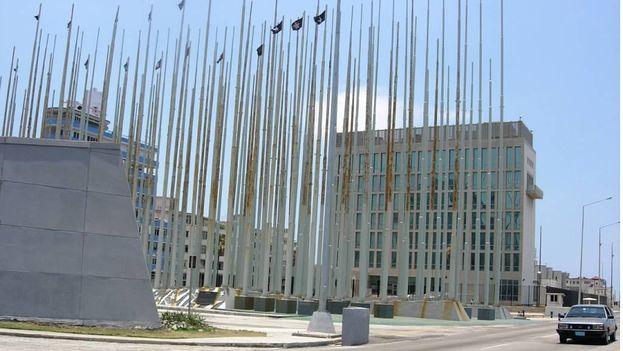 Monumento 'anti-imperialista' frente a la Oficina de Intereses de EE UU en La Habana. (14ymedio)