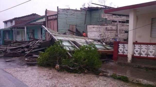 Municipio Esmeralda en Camagüey entre los más afectados por el paso del huracán Irma. (Cortesía)