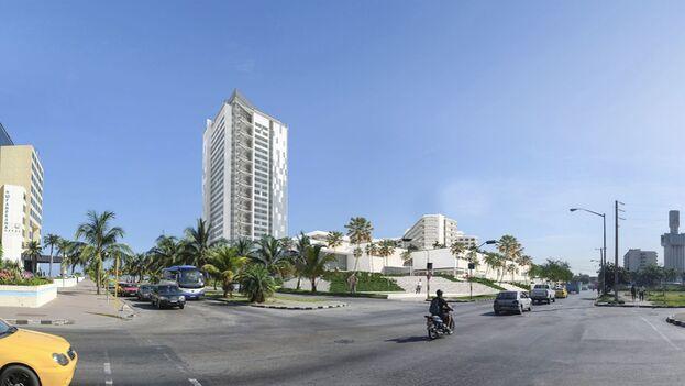 El Gran Muthu Habana está ubicado en Miramar, muy cerca del acuario nacional. (imagen virtual MGM Hotels)